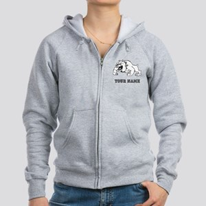 Mean Bulldog (Custom) Zip Hoodie