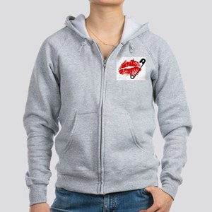 Safety Pinned Kiss Women's Zip Hoodie
