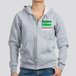 Irish Today Italian Tomorrow Women's Zip Hoodie