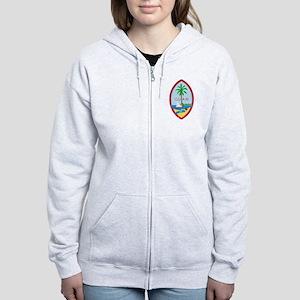 Guam Coat Of Arms Women's Zip Hoodie