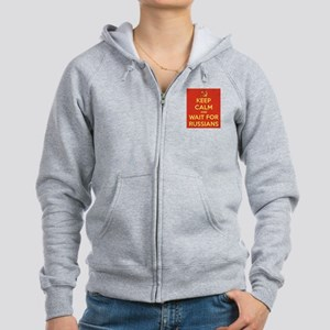 Keep Calm and Wait for the Russ Women's Zip Hoodie