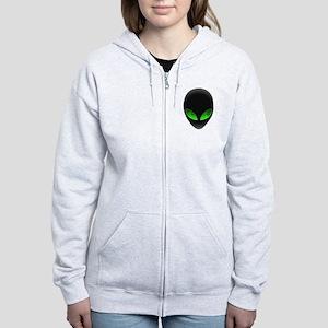 Cool Alien Earth Eye Reflection Zip Hoodie