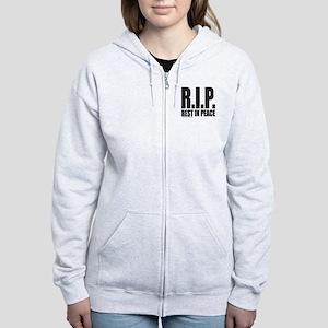 R.I.P. REST IN PEACE Women's Zip Hoodie