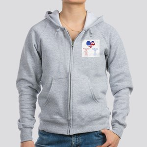 British American Translations Women's Zip Hoodie