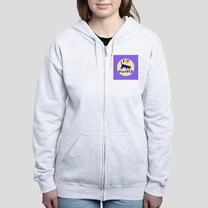 Purrple Women's Zip Hoodie