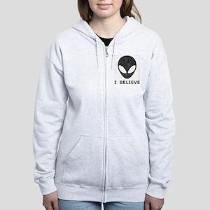 Vintage Alien (I Believe) Women's Zip Hoodie