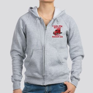 I Like Big Trucks Peterbilt Women's Zip Hoodie