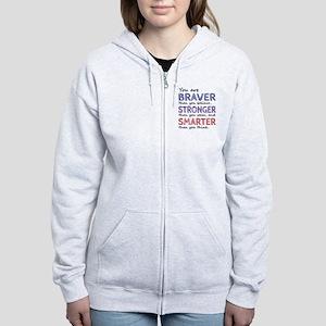 Braver Stronger Smarter Women's Zip Hoodie