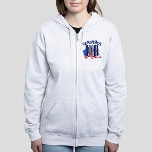 Remember 9/11 - 9-11-01 Twin To Women's Zip Hoodie