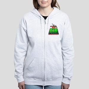 BEAN-Shirt-Looming Women's Zip Hoodie