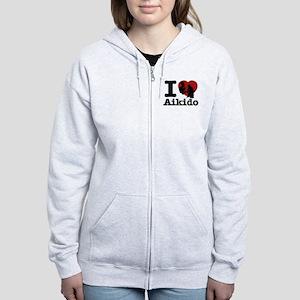 Aikido Heart Designs Women's Zip Hoodie