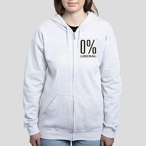 0% Liberal Women's Zip Hoodie