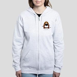 BassetDroolDark Women's Zip Hoodie