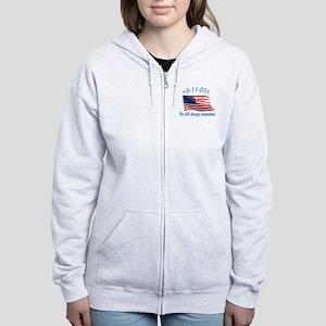 9/11 Tribute - Always Remember Women's Zip Hoodie