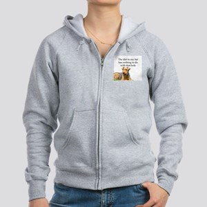Airedale Sees no connection bet Women's Zip Hoodie