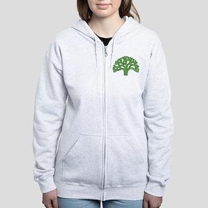 Oakland Tree Green Women's Zip Hoodie