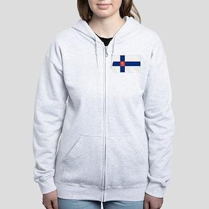 State Flag of Finland Women's Zip Hoodie