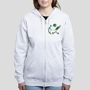 Green Reader Women's Zip Hoodie