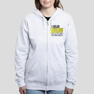 I Wear Yellow 10 Endometriosis Women's Zip Hoodie