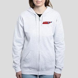 Tennessee Flag Women's Zip Hoodie