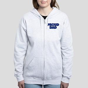 Proud Air Force Dad Women's Zip Hoodie