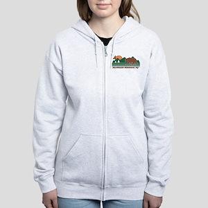 Adirondack Mountains NY Women's Zip Hoodie