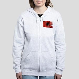 Albania Flag Women's Zip Hoodie