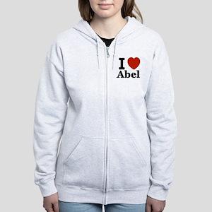 I love Abel Women's Zip Hoodie
