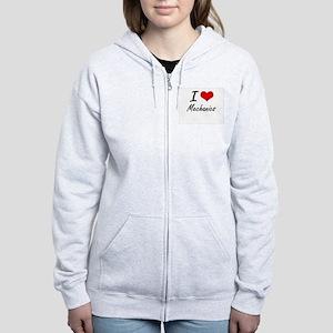 I Love Mechanics Women's Zip Hoodie