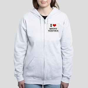 mount vesuvius Women's Zip Hoodie