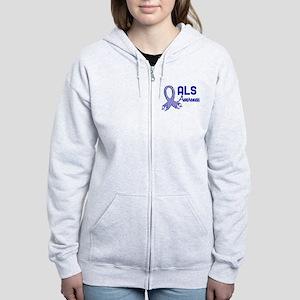 ALS Awareness Women's Zip Hoodie