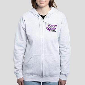 I Wear Purple 42 Lupus Women's Zip Hoodie