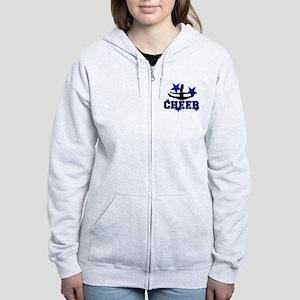 Blue Cheerleader Zip Hoodie