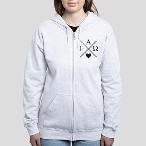 Gamma Alpha Omega Cross Women's Zip Hoodie