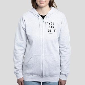You Can Do It Women's Zip Hoodie