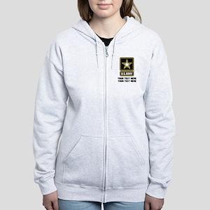 US Army Star Women's Zip Hoodie