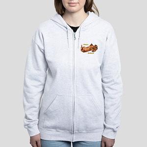 Bellyrub Doxie Women's Zip Hoodie