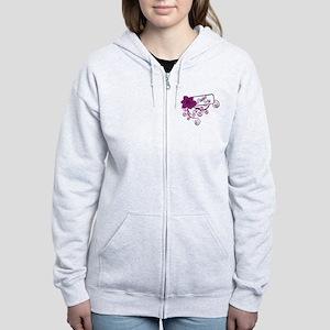 Trucker's Wife Purple Flower Women's Zip Hoodie