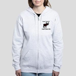customize Moose Women's Zip Hoodie