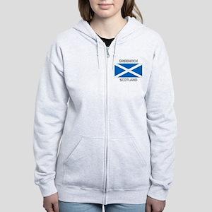 Greenock Scotland Women's Zip Hoodie