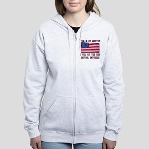 Flag2 Women's Zip Hoodie