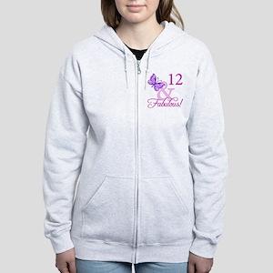 Fabulous 12th Birthday Women's Zip Hoodie