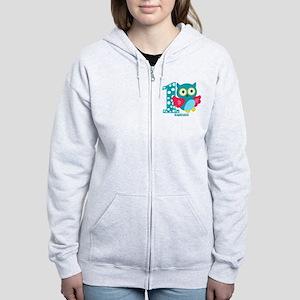 Cute First Birthday Owl Women's Zip Hoodie