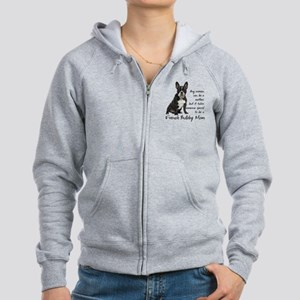 Frenchie Mom Zip Hoodie