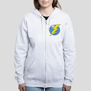 Vintage Sheldon Lightning Bolt 2b Zip Hoodie