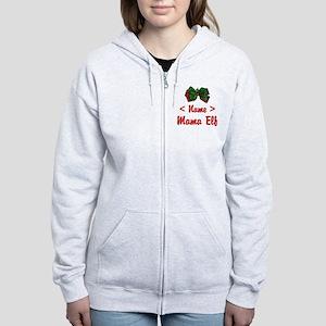 Personalized Mama Elf Women's Zip Hoodie