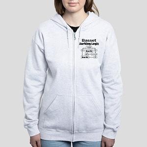 Basset logic Women's Zip Hoodie