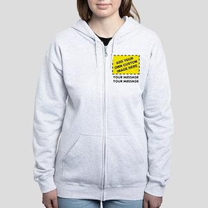 Custom Image & Message Women's Zip Hoodie