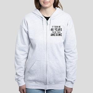 46 Years Birthday Designs Women's Zip Hoodie