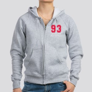 93 year aged to perfection Women's Zip Hoodie